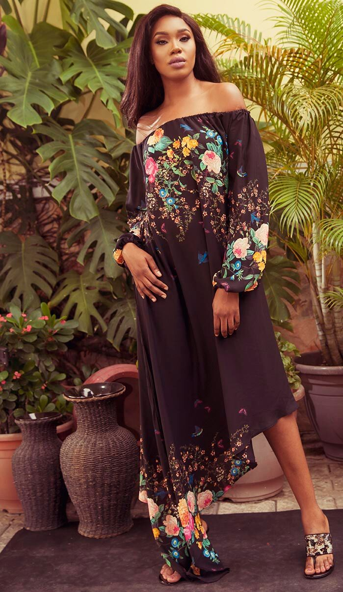 "10 2 ""Skinny Girl in Transit"" actress Sharon Ooja models for Rabesque's ""Bloom"" Collection 