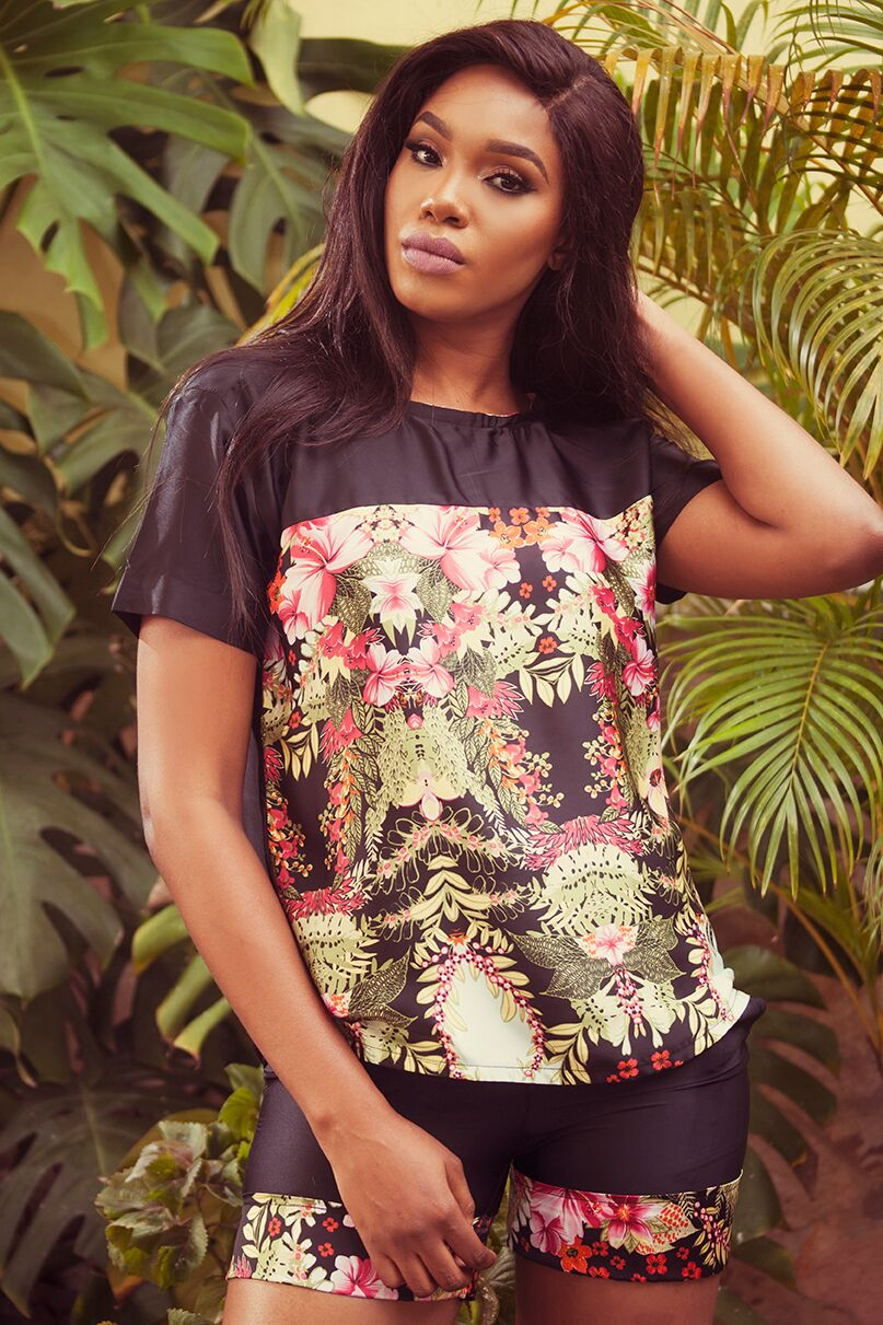 "11 1 ""Skinny Girl in Transit"" actress Sharon Ooja models for Rabesque's ""Bloom"" Collection 