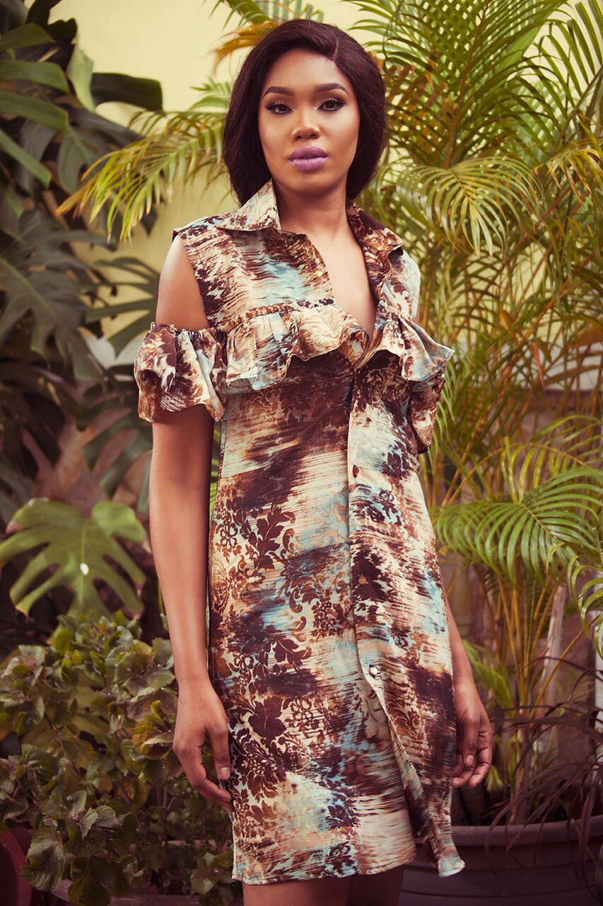 "12 1 ""Skinny Girl in Transit"" actress Sharon Ooja models for Rabesque's ""Bloom"" Collection 