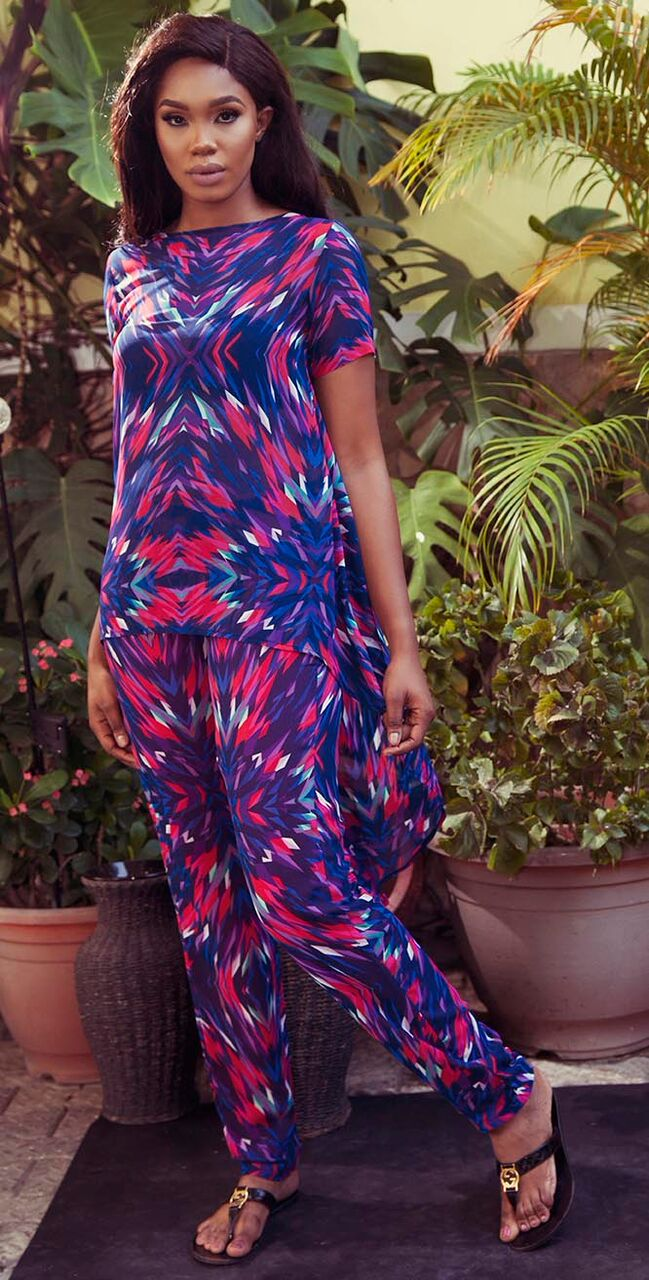 "3 2 ""Skinny Girl in Transit"" actress Sharon Ooja models for Rabesque's ""Bloom"" Collection 