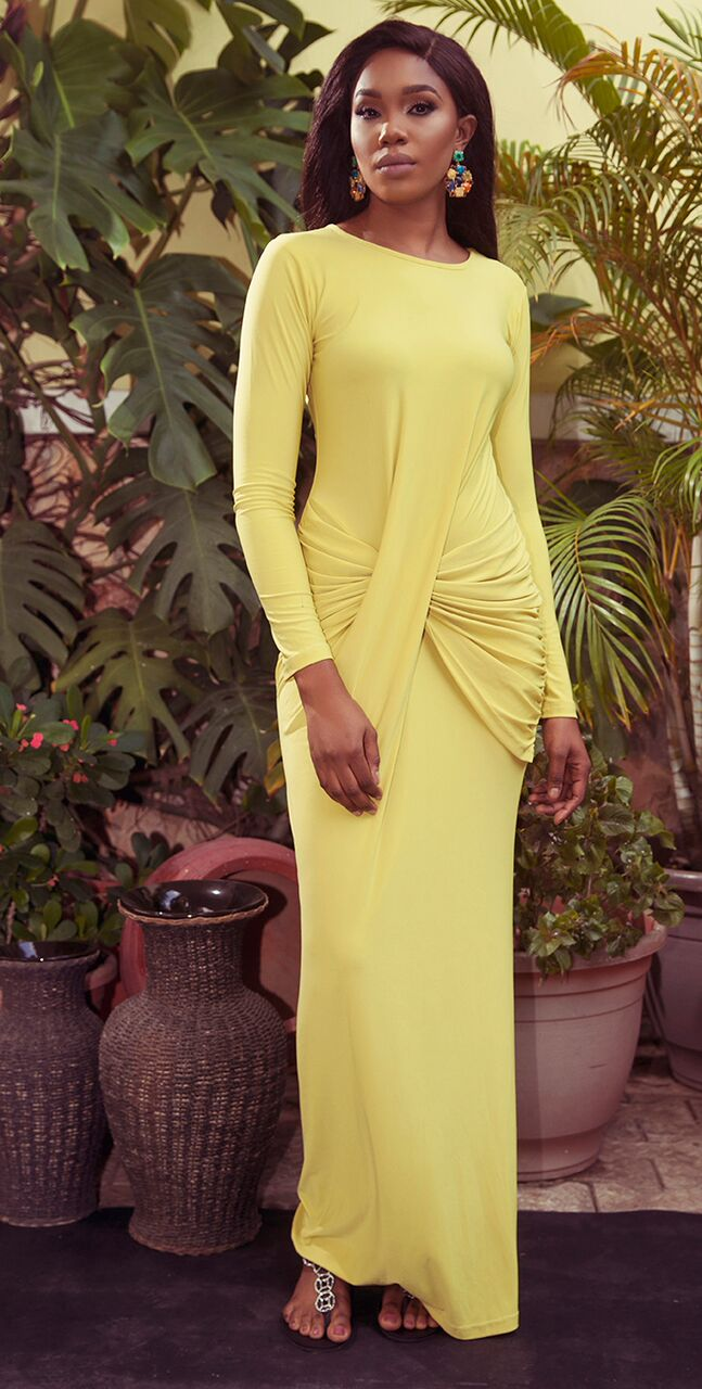 "4 2 ""Skinny Girl in Transit"" actress Sharon Ooja models for Rabesque's ""Bloom"" Collection 