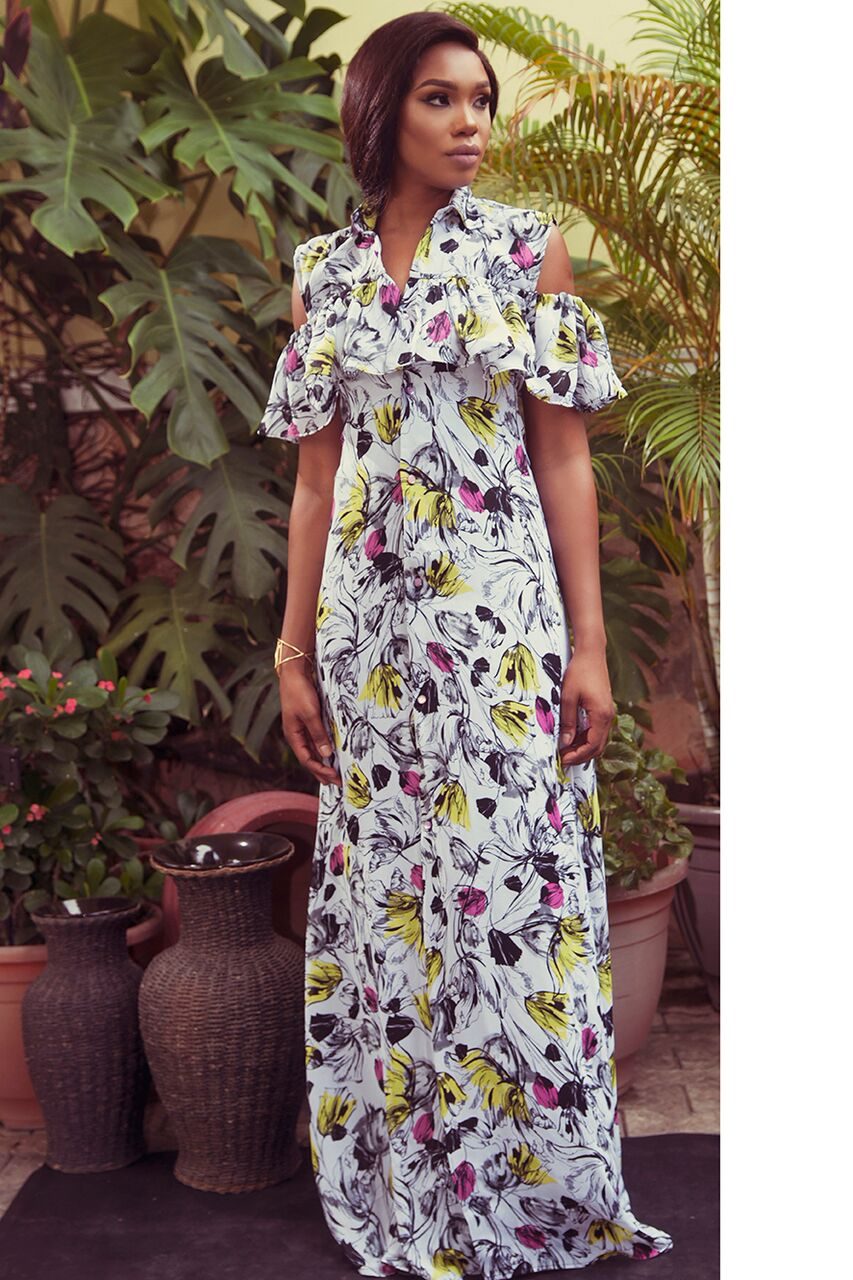 "5 2 ""Skinny Girl in Transit"" actress Sharon Ooja models for Rabesque's ""Bloom"" Collection 