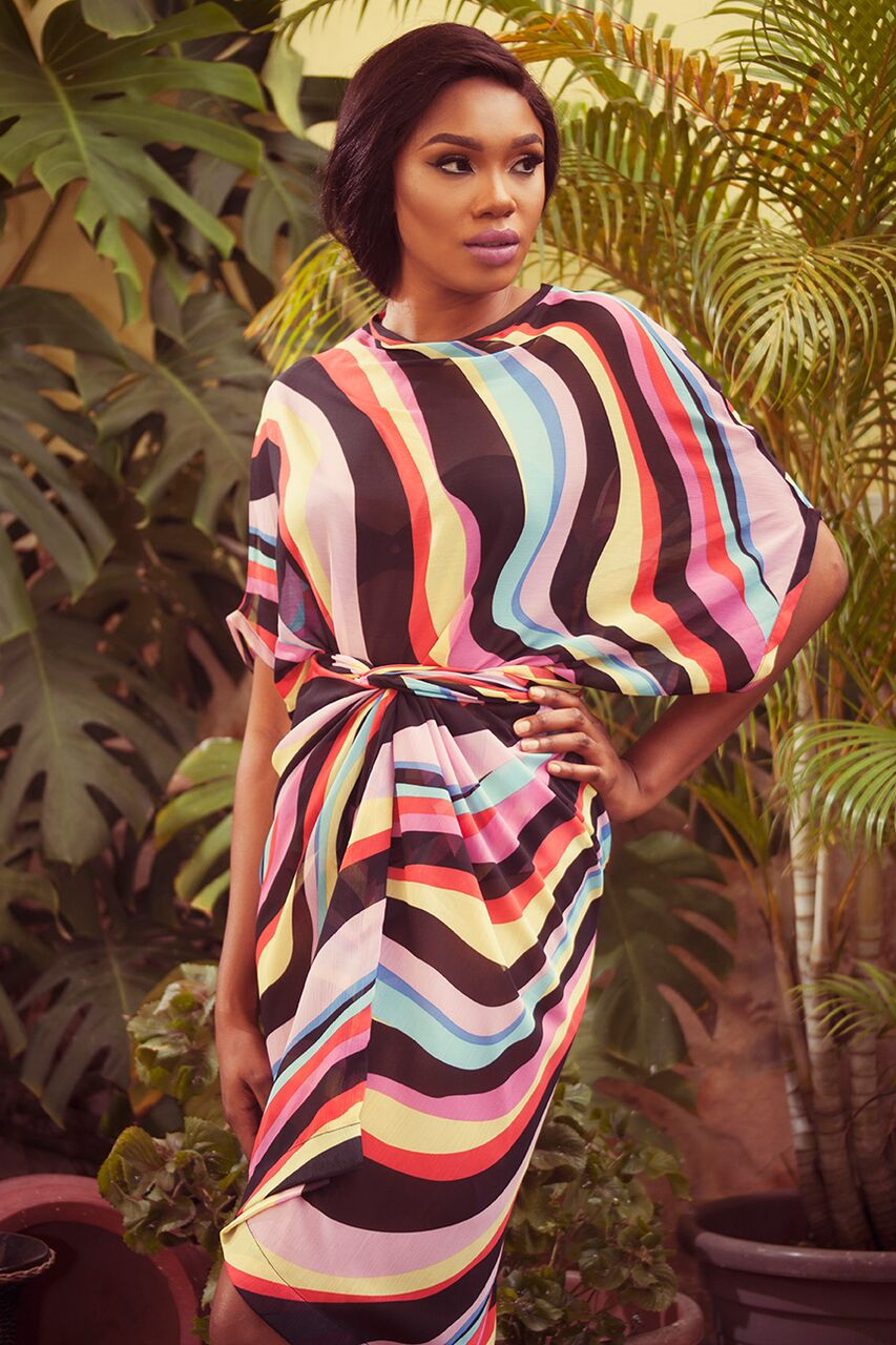 "8 2 ""Skinny Girl in Transit"" actress Sharon Ooja models for Rabesque's ""Bloom"" Collection 