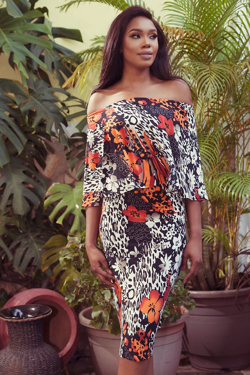 "9 2 ""Skinny Girl in Transit"" actress Sharon Ooja models for Rabesque's ""Bloom"" Collection 